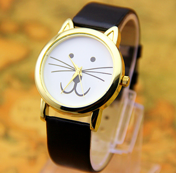 8-colors-New-Arrival-Fashion-Unisex-Tiger-Cat-watch-Gold-watch-head-gift-watch-1pcs-lot