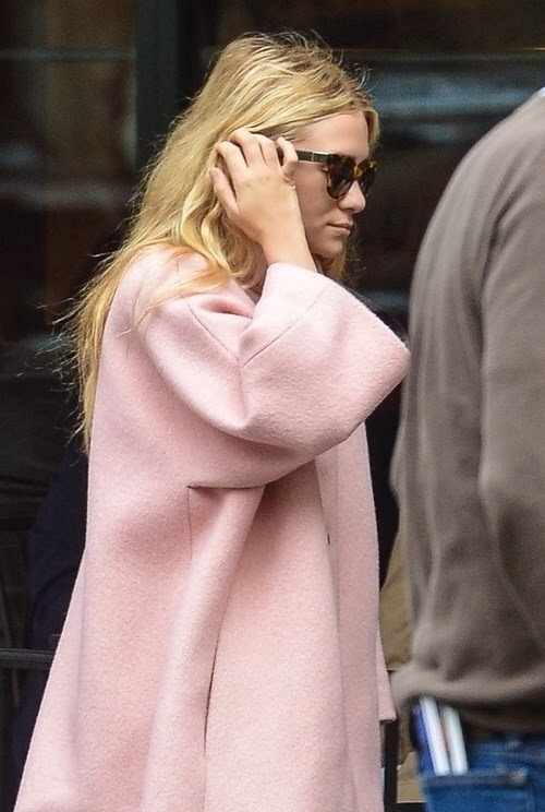 NO cappotto rosa stile vestaglia olsen