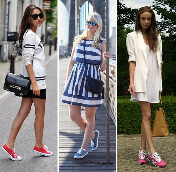 ways_of_wearing_sneakers_with_dresses_fashionisers